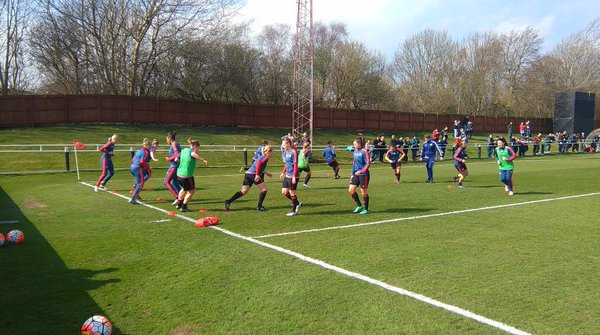 The Lady Black Cats being put through their paces before their victory. (Photo: Sunderland AFC Ladies)