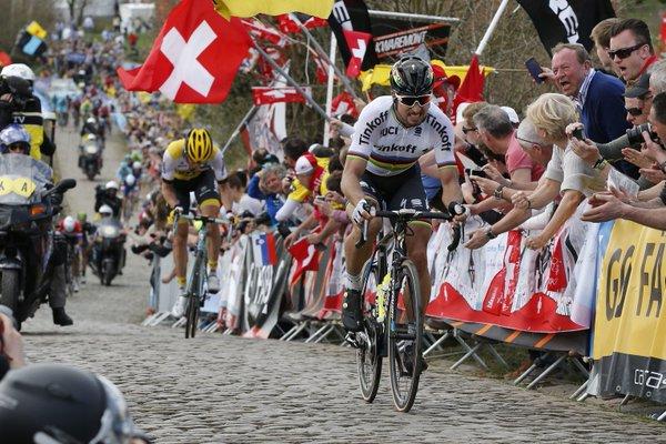 Momento en el que Sagan deja atrás a Vanmarcke | Fotografía: Cyclingtips