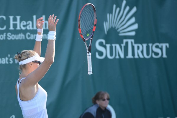 Lucic-Baroni's reacts after the win | Photo: Christopher Levy