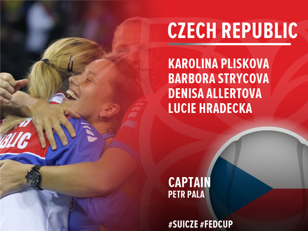 Czech team nominations. Photo credit : Fed Cup Twitter.