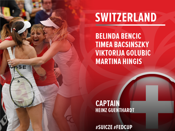Swiss team nominations. Photo credit : Fed Cup Twitter.