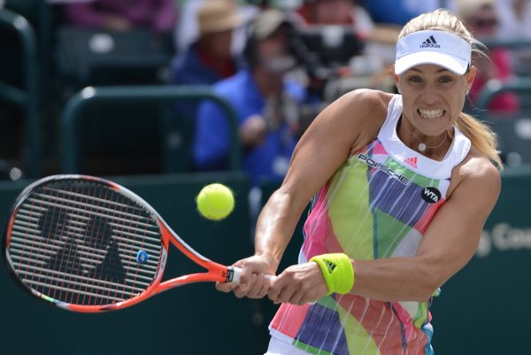 Kerber with the first break   Photo: Christopher Levy