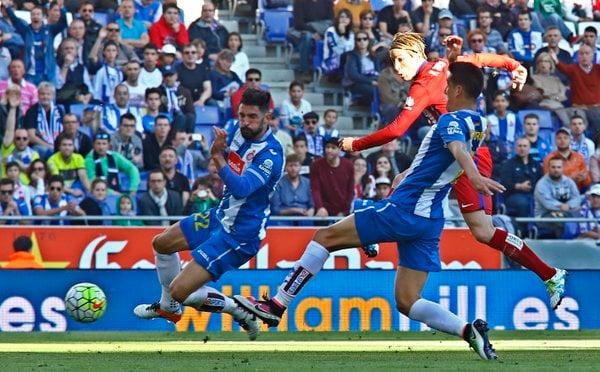 Il gol siglato da Torres che ha permesso all'Atletico di tornare in parità. Fonte: clubatleticodemadrid.com