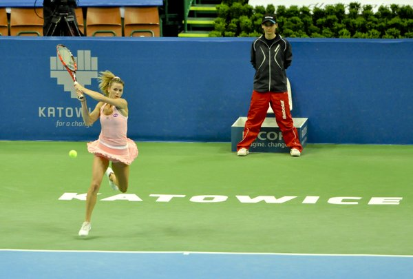 Giorgi still in the mix in the first set | Photo: Katowice Open