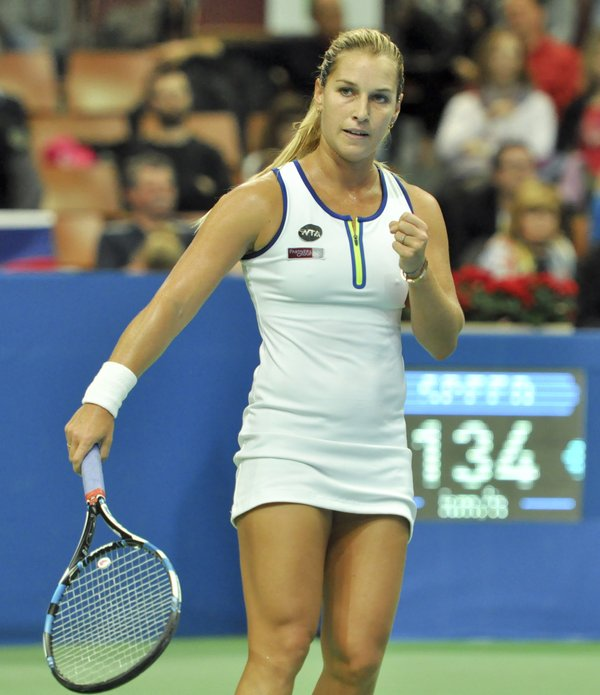 Cibulkova fends off a late comeback from Giorgi to take the first set | Photo: Katowice Open