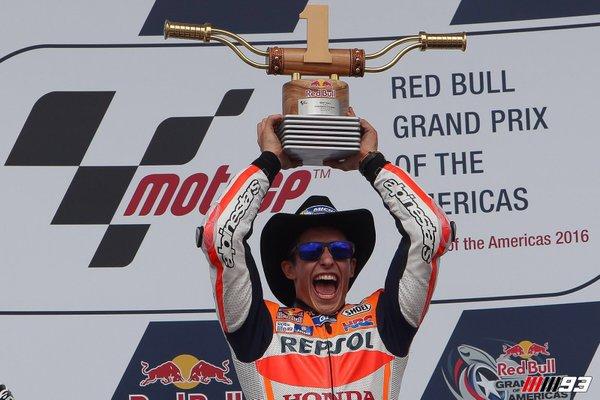 Marquez celebrates his victory. (Photo: Moto GP)