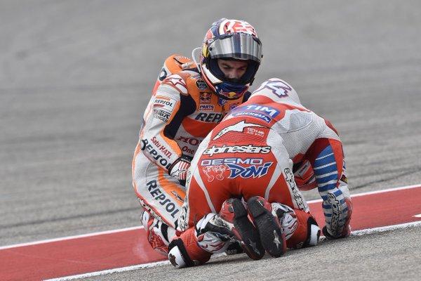 Pedrosa apologies for his mistake. (Photo: Motociclismo España)