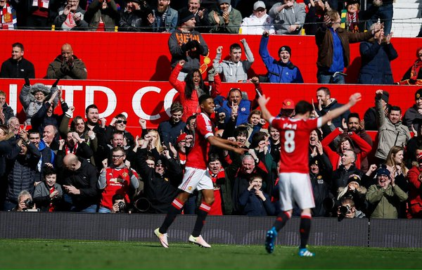 Rashford celebrates yet another goal in his short United career | Photo: Getty Images