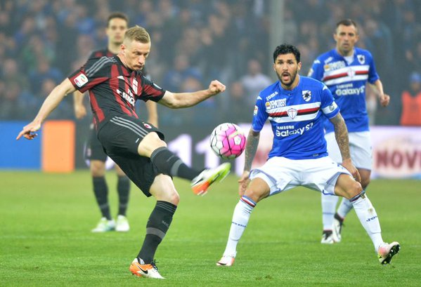 Sampdoria - Milan 0-1, Gazze World