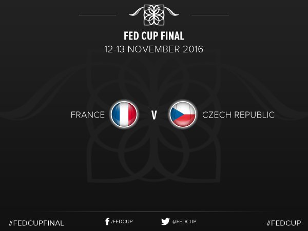 The 2016 Fed Cup final will see France host defending champions Czech Republic. Photo credit: Fed Cup Twitter.