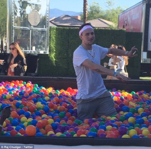 Manziel partying at Coachella Music Festival Raj Chudgar/Twitter