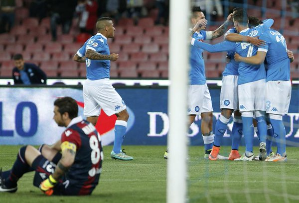 Napoli Bologna 6-0, Gazzetta World