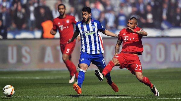 Vidal calcia il pallone. Fonte: fcbayern.de