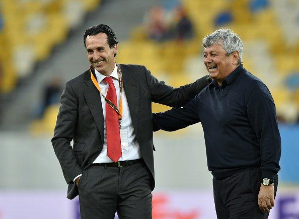 Emery e Lucescu si scambiano battute prima del match d'andata. Fonte: uefa.it/europaleague