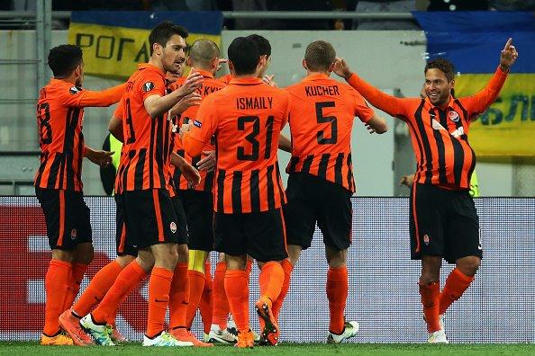 Il gol di Marlos all'andata, con l'esultanza di tutta la squadra. Fonte: uefa.it/europaleague