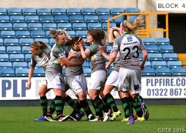 Yeovil celebrate during their emphatic win. (Photo: Girls on the Ball)