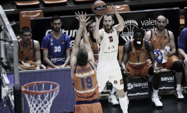 Sergio Rodríguez ante Valencia Basket / Fuente: Euroliga