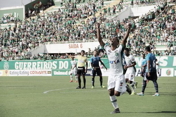 Bruno Rangel é o artilheiro do time no ano - 10 gols - e na história - 68 gols (Foto: Divulgação/Chapecoense)