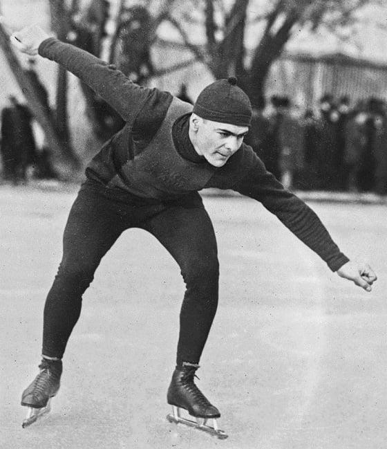 Charles Jewtraw en los Juegos Olimpicos de Invierno de Chamonix 1924. PD.