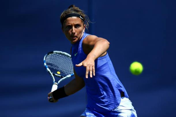 Sara Errani in action at the Aegon International during qualifying (Getty/Charlie Crowhurst)