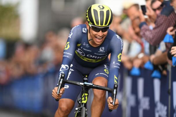 Esteban Chaves quedó tercero en la Vuelta a España 2016 | Foto: Orica Scott