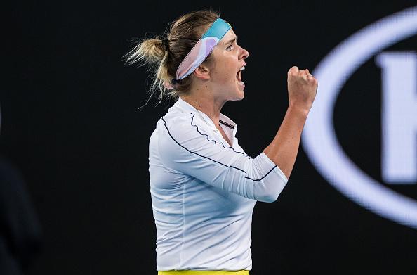 Svitolina celebrates her second round win over Lauren Davis (Photo: Chaz Neill)