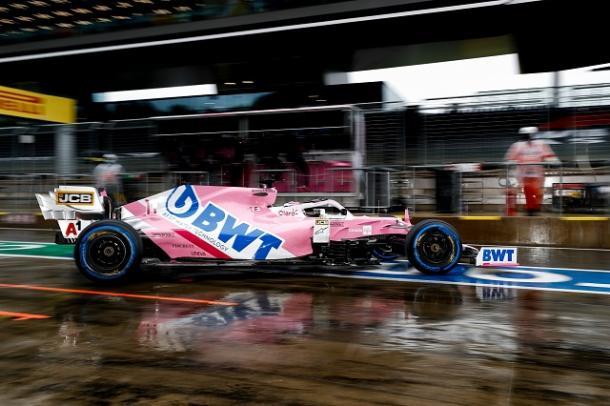 Sergio Pérez subido al Racing Point. Fuente: Racing Point