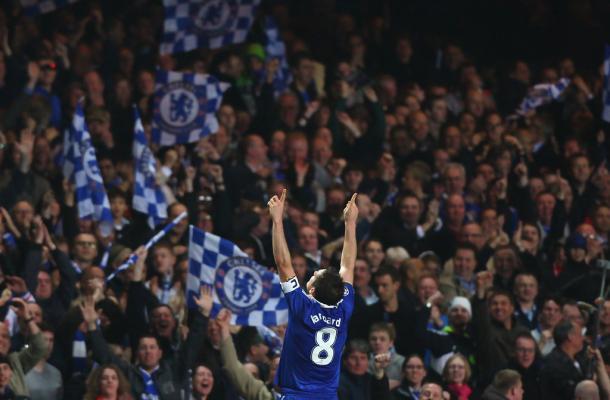 Lampard ringrazia il cielo. Fonte foto: Getty Images Europe.