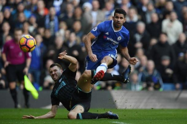 Costa contro il WBA, www.mirror.co.uk