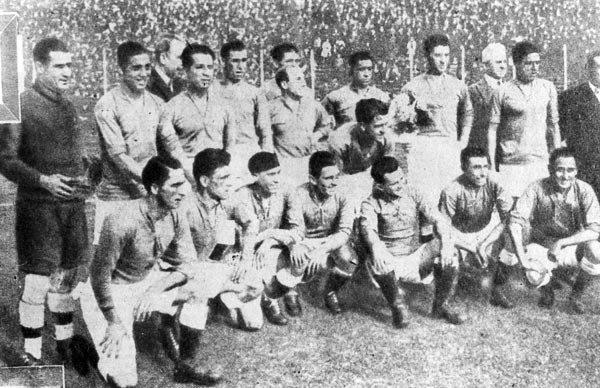 Plantilla del Celta que venció a Argentina en Buenos Aires en 1928. Chicha, cuarto por la derecha en la fila superior. (Foto: anotandofutbol.blogspot.com)