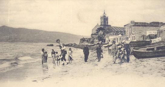 Instantánea de la villa de Bouzas, donde se crió Chicha a principios del siglo pasado (Foto: fameceleste.blogspot.com)