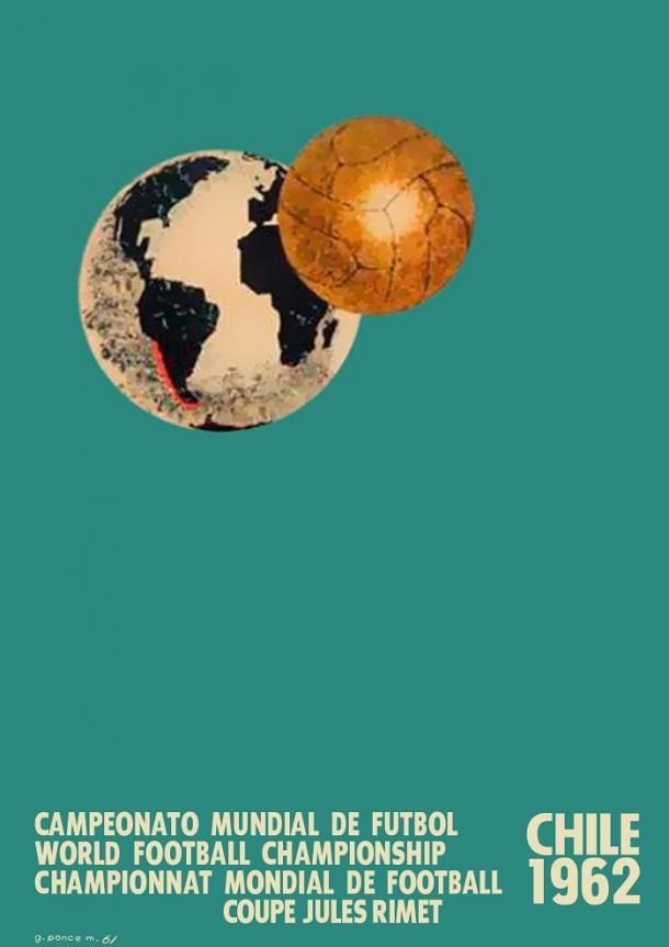 Cartel Oficial Copa del Mundo Chile 1962 | Imagen: Federación de Fútbol de Chile