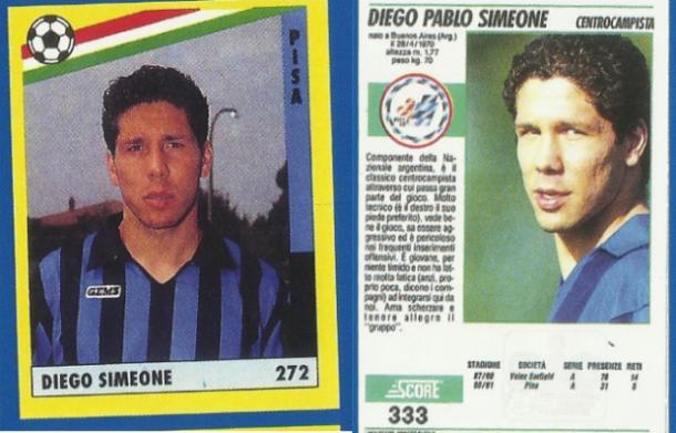 Diego Pablo Simeone ai tempi del Pisa, pisalo.es