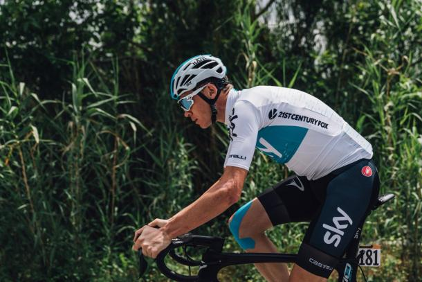 Chris Froome está viviendo un Giro de Italia complicado   Foto: Team Sky