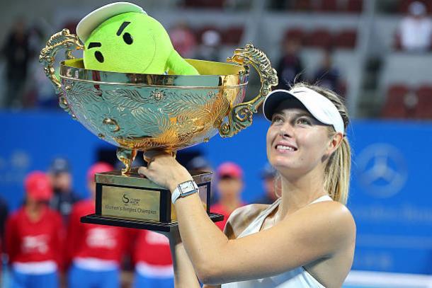 Sharapova beat Petra Kvitova to take the China Open title three years ago (Getty/Chris Hyde)