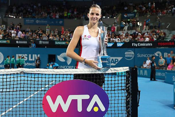 Pliskova won her first title of 2017 in Brisbane (Getty/Chris Hyde)