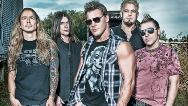 Chris Jericho with his band members Fozzy (image: Culture Crossfire)