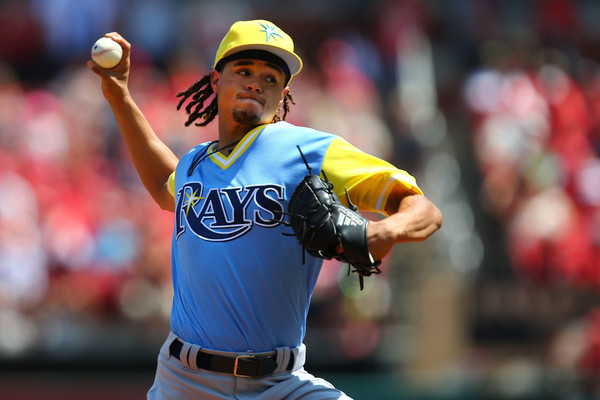 Chris Archer #22 of the Tampa Bay Rays. |Dilip Vishwanat/Getty Images North America|