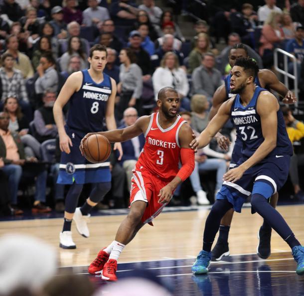 Chirs Paul es capaz de organizar perfectamente el juego de los Rockets. | Foto: Rockets.com