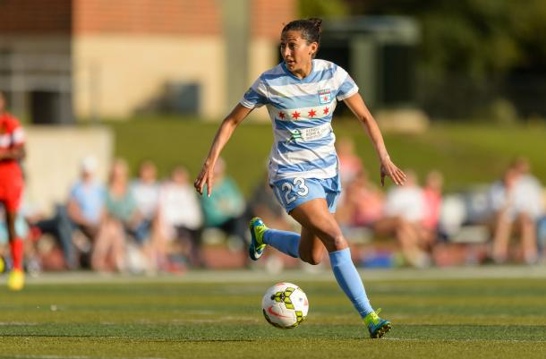 Christen Press can make goals out of nothing for her team | Source: chicagoredstars.com