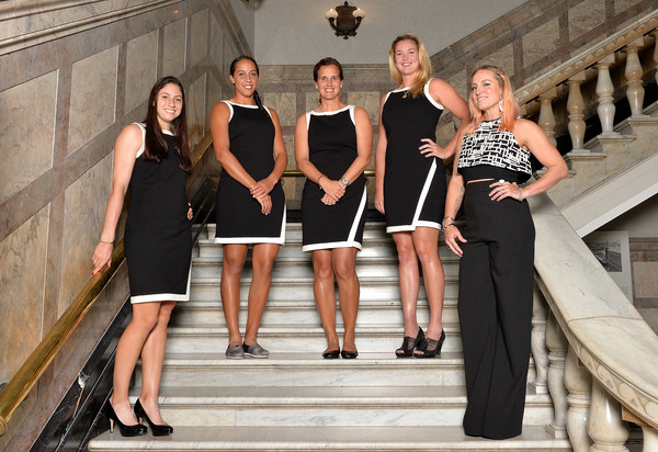 Team USA before Fed Cup action in Australia. Photo: Bradley Kanaris/Getty Images