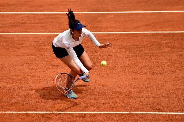 Christina McHale hitting a volley at the Internazionali BNL d'Italia. | Photo: Dennis Grombkowski/Getty Images