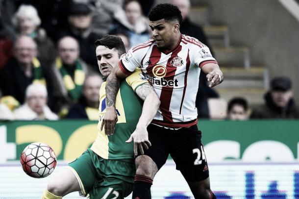 DeAndre Yedlin in action for Sunderland against Norwich City   Photo: The Chronicle