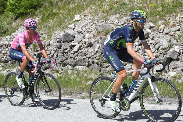 I due della Movistar. Fonte: giroditalia.it