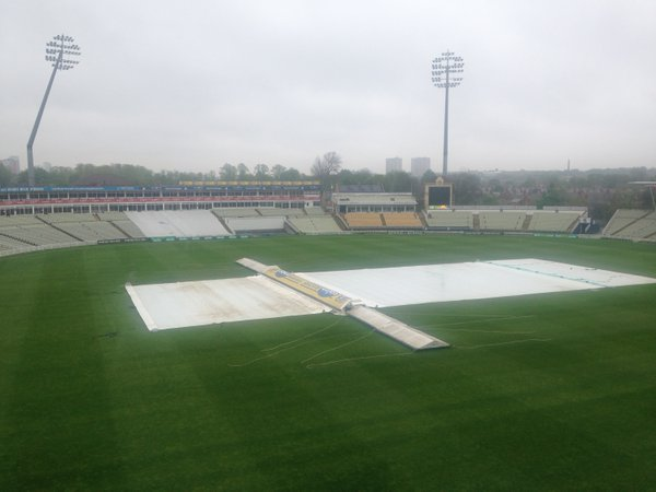 Play at Edgbaston never got going because of heavy rain | Photo: Getty Images