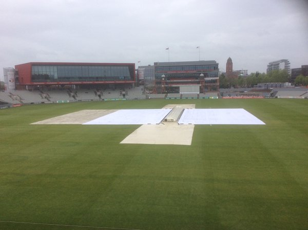It was a sorry sight in Manchester with constant rain after lunch bringing an early end to play | Photo: Getty Images