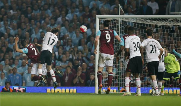 Blind lost out in the air to Reid for West Ham's winner | Photo: Getty Images
