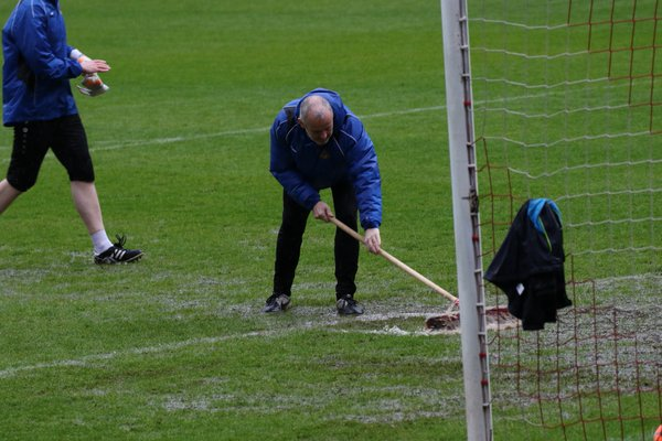 Scenes at the Keepmoat as Doncaster Belles' home WSL 1 fixture with Arsenal was called off. Will we see these scenes more often in a winter season? (Photo: Carl Lygo)
