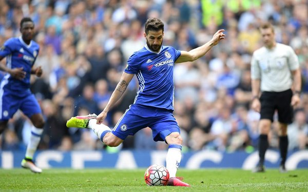 Il penalty trasformato da Cesc Fabregas | Foto: @ChelseaFC on Twitter