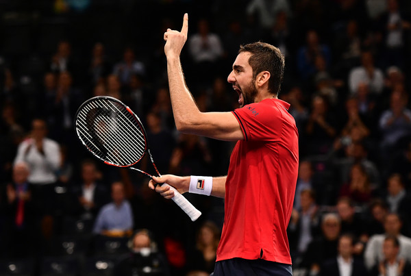 Marin Cilic celebrates his upset of Djokovic last week. Photo: Dan Mullan/Getty Images